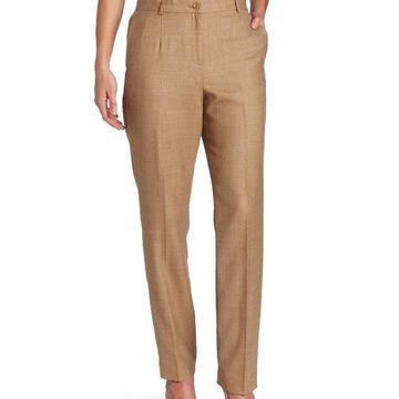 Pendleton Brown Womens Size 24W Plus Classic Fit Dress Pants