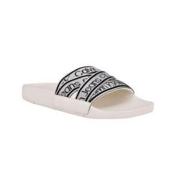 Calvin Klein Jeans Women's Atwyn Logo Pool Slides Women's Shoes