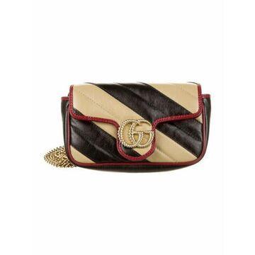 GG Marmont Super Mini Bag Black
