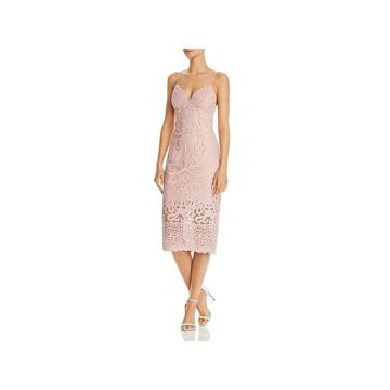 Bardot Womens Gia Cocktail Dress Lace Spaghetti Straps