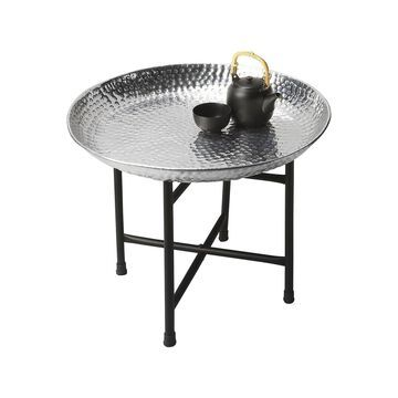 Offex Transitional Round Tray Table