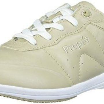 Propet Women's Washable Walker Walking Shoe, sr Bone/White, 5.5 M US