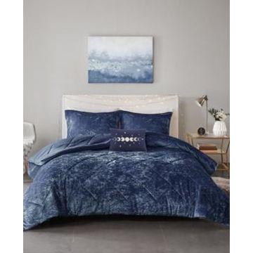 Intelligent Design Felicia Full/Queen 4-Pc. Velvet Comforter Set Bedding