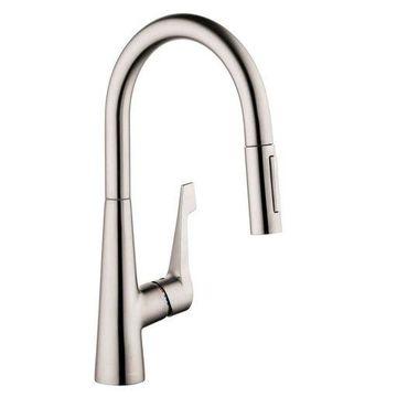 Hansgrohe Talis M Pull Down Kitchen Faucet Steel Optik