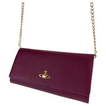 Vivienne Westwood Purple Leather Wallets