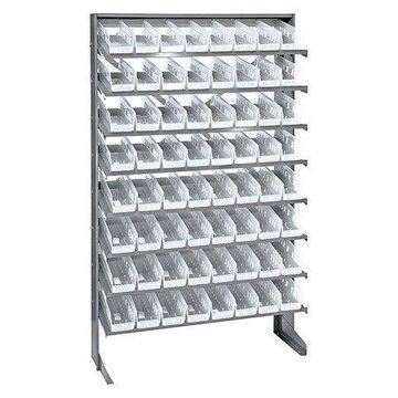 QUANTUM STORAGE SYSTEMS QPRS-101CL Pick Rack,Overall 12'' D,Clear