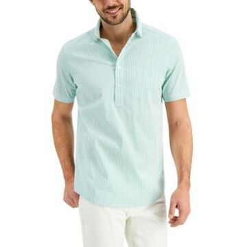 Club Room Men's Striped Popover Shirt, Created for Macy's