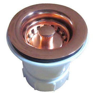 Whitehaus WC2BASK-CO 2'' Bar Sink Basket Strainer in Polished Copper