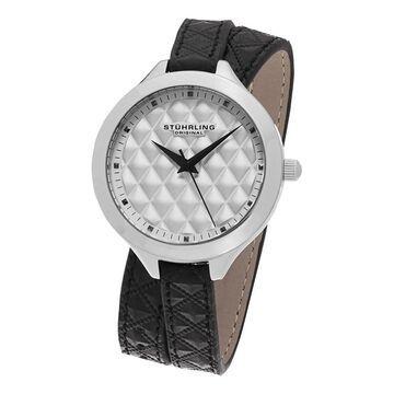 Stuhrling Original Women's Vogue Quartz Black Double Wrap Leather Strap Watch (Stuhrling Original Women's Watch)