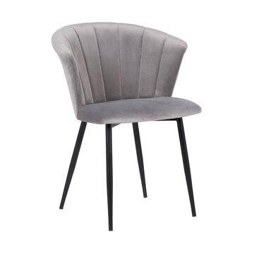 Lulu Contemporary Dining Chair Black/Gray - Armen Living