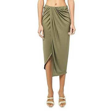 Helmut Lang Ruched Draped Skirt