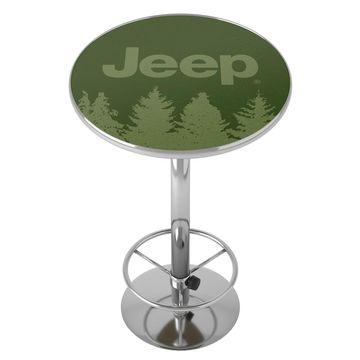 Jeep Tree Chrome Pub Table