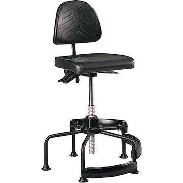 Safco Task Master Deluxe Industrial Polyurethane Industrial/Shop Chair, Black (5120) | Quill