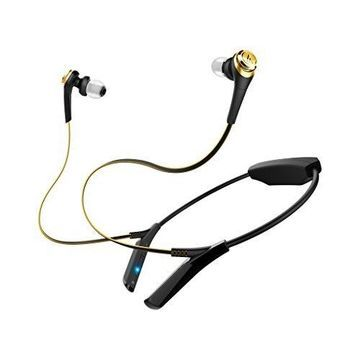 Audio-Technica ATH-CKS550BTBGD Bluetooth Solid Bass Wireless Earbuds with Mic & Control, Black-Gold