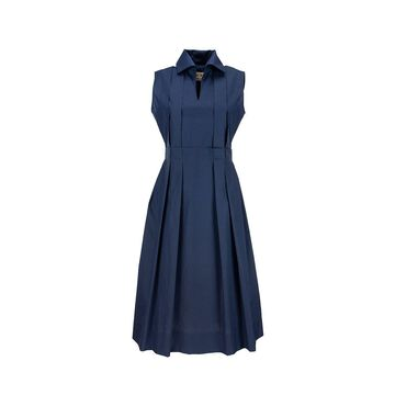 MARNI Polo-Neck Cotton Poplin Dress With Pleats