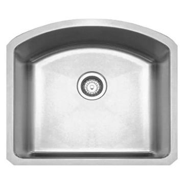 Whitehaus WHNC2321 Stainless Steel 23'' Single Bowl Kitchen Undermount