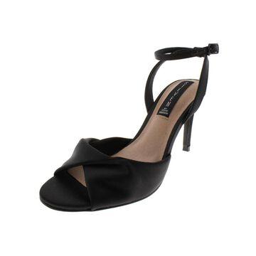 Steven By Steve Madden Womens Naira Evening Sandals Satin Heels