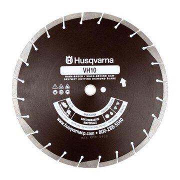 Husqvarna 14 in. Dia. x 1 in. VH10 Diamond Segmented Rim Saw Blade 24 teeth 1 pk