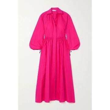Max Mara - Bairo Gathered Cotton-poplin Shirt Dress - Pink