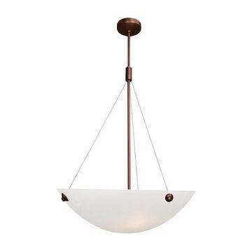 23072LEDDLP-BRZ-WHT 18 in. Noya 4 Light Bronze Pendant Ceiling Light in White