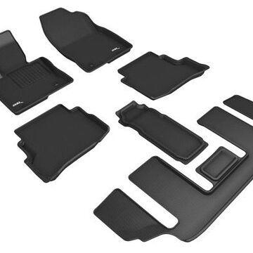 3D Maxpider Kagu Floor Mats, Floor Mat Set - KAGU Floor Mat - Front, Rear and Third Row - PN L1MZ07601509 in Black