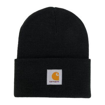 logo knitted beanie