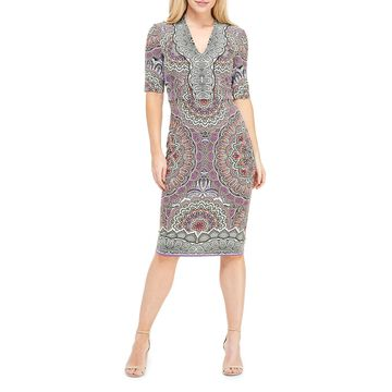 Bodycon Pattern Midi Dress