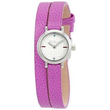 Furla Vittoria Crystal Silver Dial Ladies Watch R4251107504
