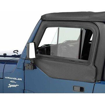 Bestop Inc. 51787-15 Bes51787-15 97-06 Jeep Wrangler Upper Door Sliders For Factory & All Bestop Soft Tops - Black Denim