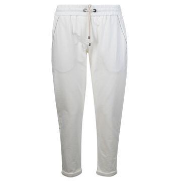 Brunello Cucinelli Drawstring-waist Cropped Track Pants