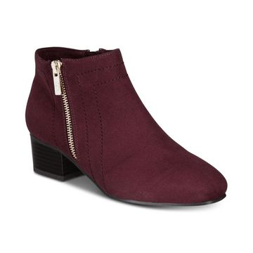 Charter Club Womens Boniee Fabric Square Toe Ankle Fashion Boots