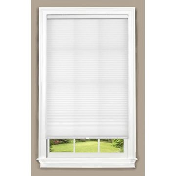 allen + roth White Light Filtering Cordless Cellular Shade (Actual: 58-in x 64-in)