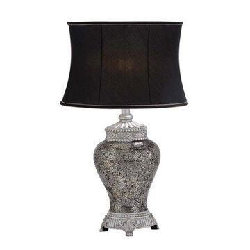 DecMode Silver Glass Tuscan Table Lamp 30