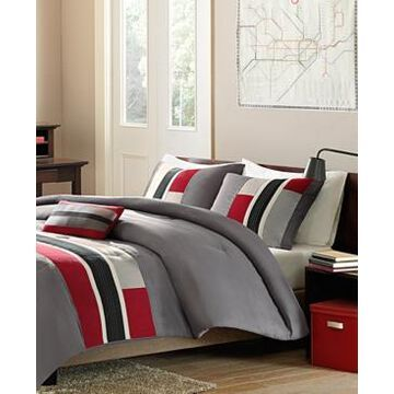 Mi Zone Pipeline 4-Pc. Reversible Full/Queen Comforter Set Bedding