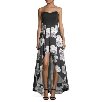 Speechless Sleeveless Floral Fit & Flare Dress