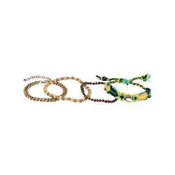 Decree Gold Tone Beaded Bracelet