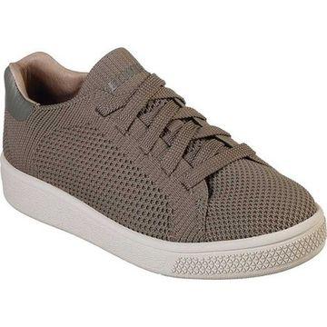 Skechers Boys' Metro-Wave Backstitch Sneaker Dark Taupe