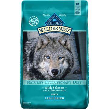 Blue Buffalo Wilderness Large Breed Salmon Recipe Grain-Free Dry Dog Food, 24-lb bag