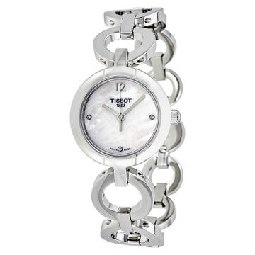 Tissot White Mother of Pearl Dial Ladies Watch T0842101111601