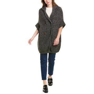 Brunello Cucinelli Blanket Style Wool, Cashmere, & Silk-Blend Cardigan