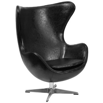 Flash Furniture Leather Egg Chair with Tilt