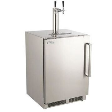 New Outdoor Rated Left Swing Refrigerator with Handle