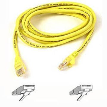 Belkin - Patch cable - RJ-45 (M) - RJ-45 (M) - 1 ft - UTP - CAT 6 - molded, snagless - yellow - B2B - for Omniview SMB 1x16, SMB 1x8, OmniView SMB CAT5 KVM Switch