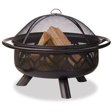 UniFlame 36-Inch Outdoor Steel Firebowl in Oil Rubbed Bronze