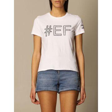 Elisabetta Franchi cotton T-shirt with hashtag logo