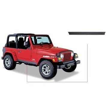 Bushwacker 97-06 Jeep Wrangler Trail Armor Side Rocker Panels - Black