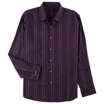 Tasso Elba Mens Striped Button Up Dress Shirt