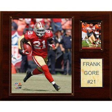 C&I Collectables NFL 12x15 Frank Gore San Francisco 49ers Player Plaque