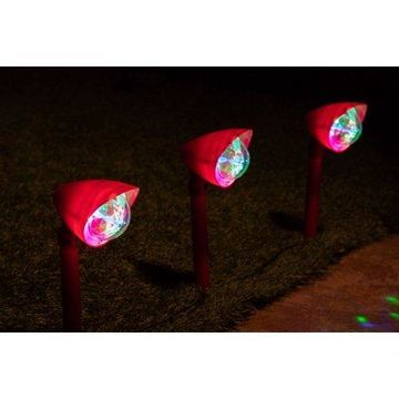 Alpine Kaleidoscope Christmas Garden Pathway LED Lights - Set of 3, 17 Inch Tall