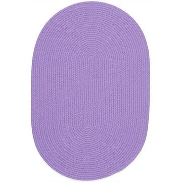 HB15R096X132 8 x 11 in. Happy Braids Solid Violet Oval Rug